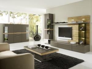 Cassale - obývací pokoj (CS1_CS42_Lack taupe_Eiche sägerauh)