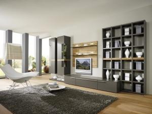 Cassale - obývací pokoj (CS5_Lack taupe_Eiche sägerauh)