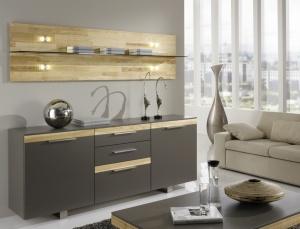 Cassale - obývací pokoj (CS51_WPZ3-195_Lack taupe_Kernesche sägerauh-)