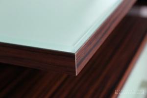Stůl kombinace macassar / sklo NCS S 0520-B90G (detail)