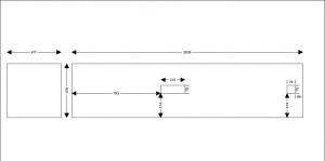 Kalené sklo č.2 - barva: NCS S 0530/B90G - cena: 3600,- vč. 21% DPH