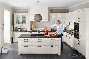 Kuchyně Ballerina - XL 4340 Nadčasová romantika, lak mikrostruktura Achátová bílá