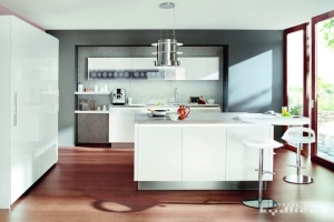 kuchynekydlicek-Ballerina-GL3416, Original Resopal sněhově bílá vysoký lesk