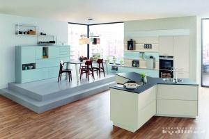 Kuchyne na miru-Ballerina-XL3399, Lak sametový v libovolné RAL nebo SIKKENS barvě, Y-kuchyně