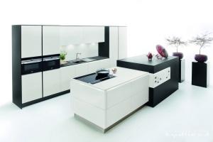 Kuchyne na miru-Ballerina-XL4031, Fenix bílý (nový sametový povrch extra tvrdý)